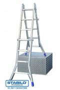 Шарнирная телескопическая лестница с перекладинами 4 x 4, серии STABILO 133953