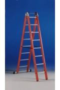 Двухсекционная диэлектрическая лестница 2*10 ступеней Svelt V2-10