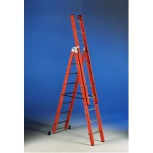 Трехсекционная диэлектрическая лестница 3*8  Svelt V3-8