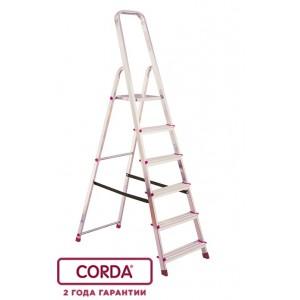 Стремянка односторонняя CORDA 8 ступ рабочая высота-3.65 м