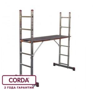 Малые лестничные подмости 2 х 6, раб. высота - 3м. CORDA 080011