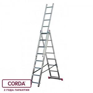 Трехсекционная лестница 3 х 9 CORDA 010391