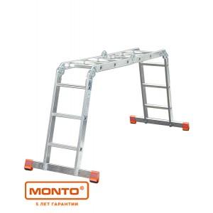 Универсальная шарнирная лестница с перекладинами MULTIMATIC 4 x 4 серии MONTO 120649
