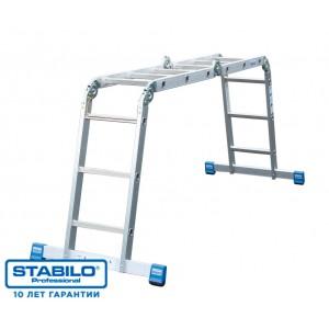 Универсальная шарнирная лестница с перекладинами 4 x 4 серии STABILO 123527