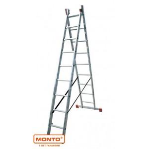 Двухсекционная лестница DUBILO 2 х 9 серии MONTO