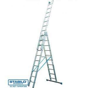 Трехсекционная лестница 3 х 14 STABILO 123367