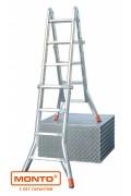Шарнирная телескопическая лестница с перекладинами TELEMATIC 4 x 4, серии MONTO 129956
