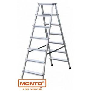 Лестница-стремянка двухсторонняя DOPPLO 2 х 7 ступ. серии MONTO