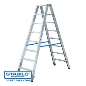 Лестница-стремянка двухсторонняя STABILO 2 х 7 ступ.